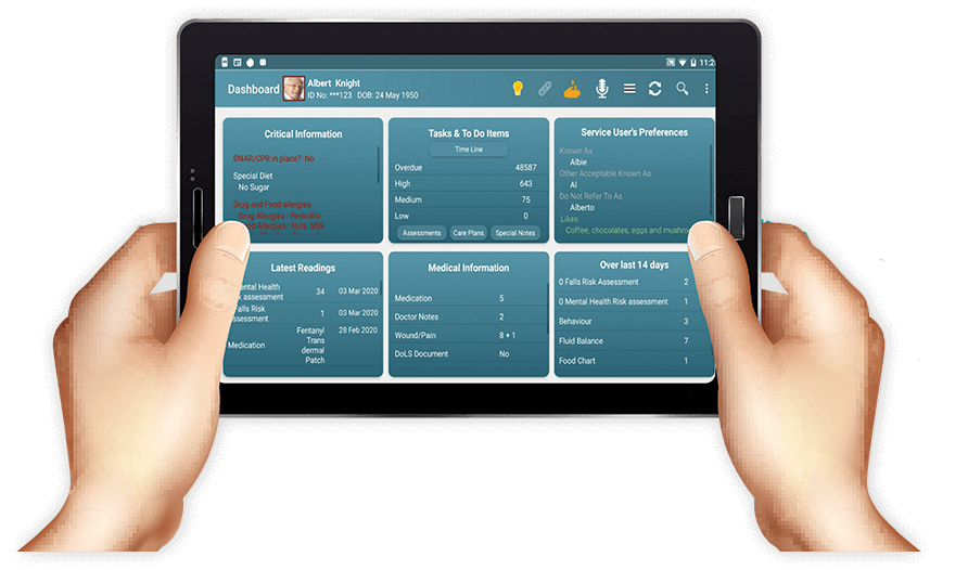 Cura Tablet, Complex Care Software